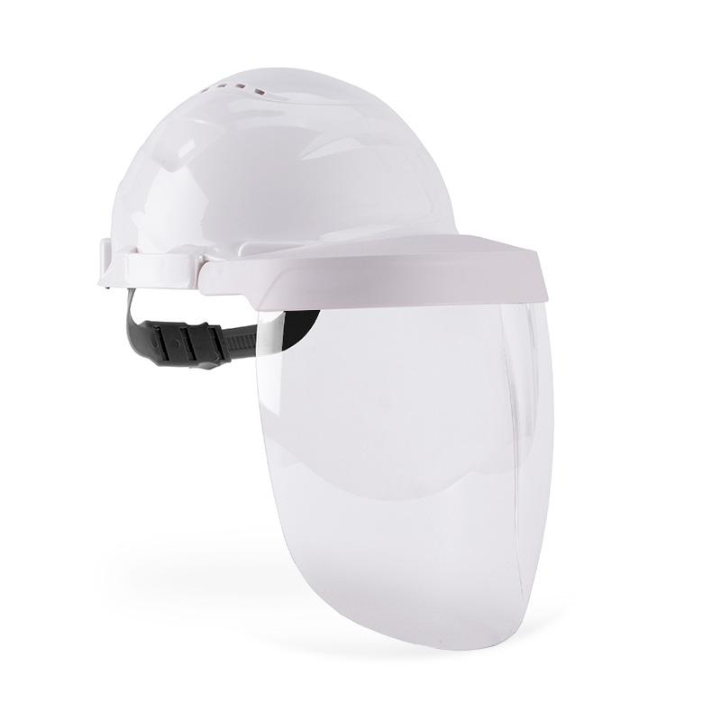 Capacete branco e viseira com lente policarbonato resistente