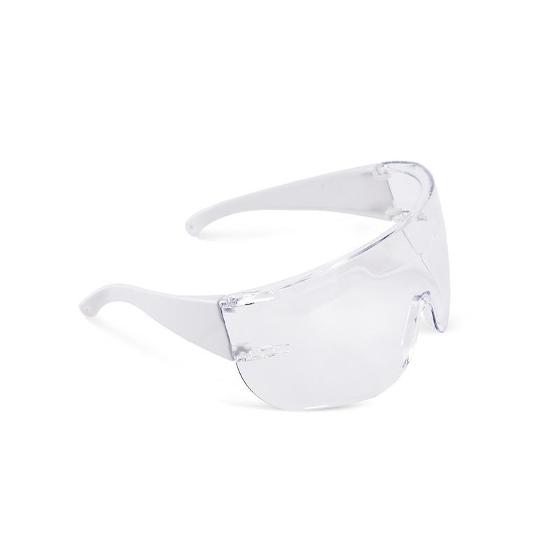 Óculos brancos com lente policarbonato resistente