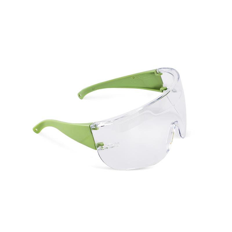 Óculos verdes com lente policarbonato resistente