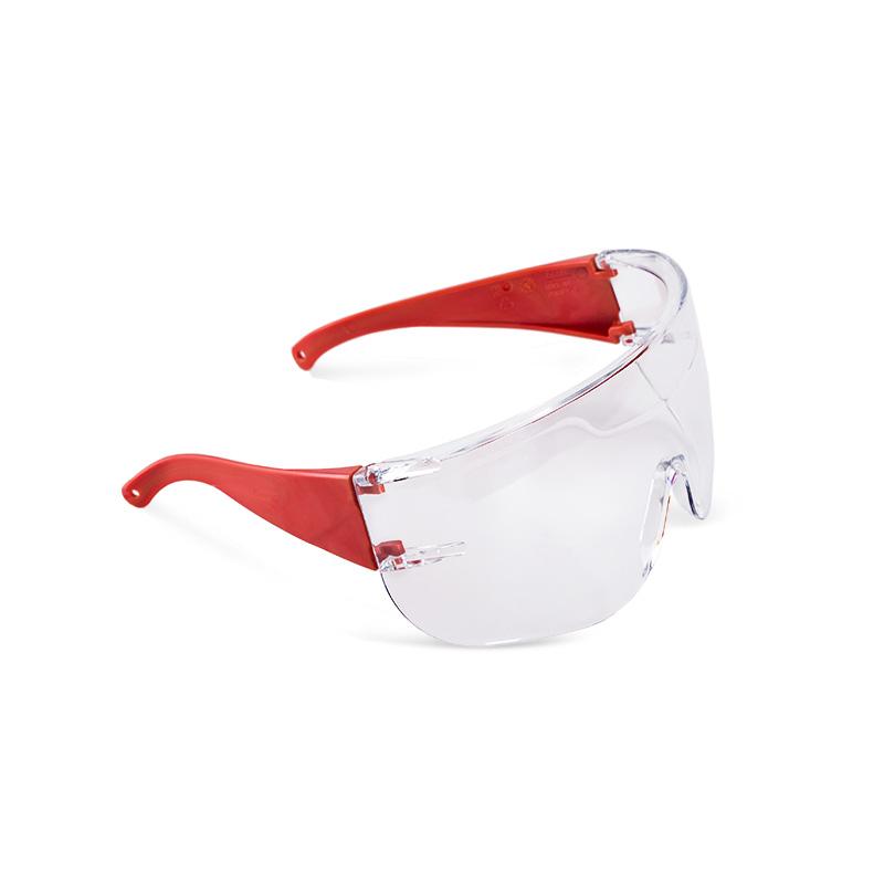 Óculos vermelhos com lente policarbonato resistente