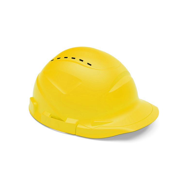 Capacete amarelo de proteção