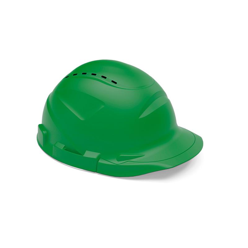 Capacete verde de proteção