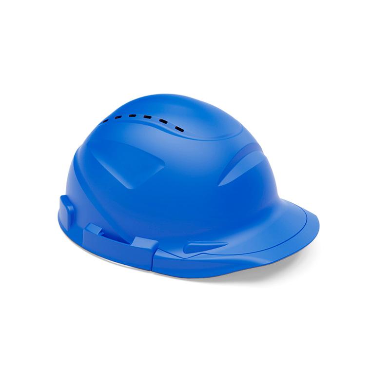 Capacete azul de proteção