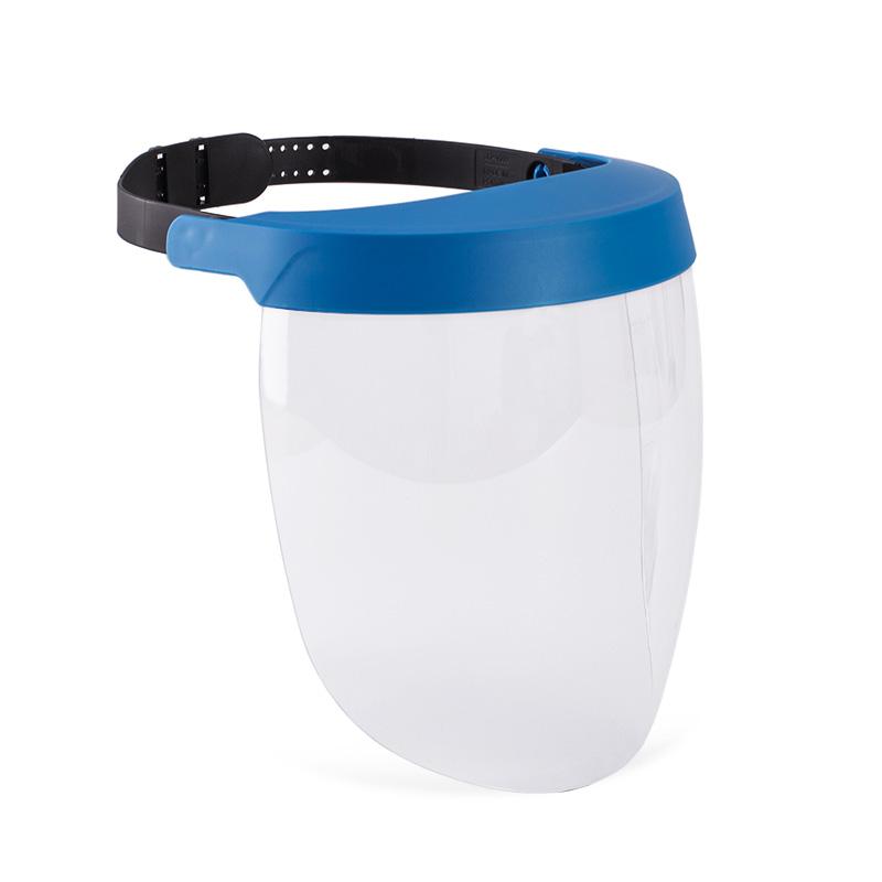 Viseira azul com lente policarbonato resistente